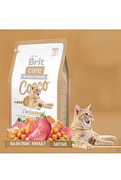 Brit Care Cat Cocco I`am Gourmand - kachna & losos pro vybíravé kočky