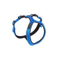 Postroj pro psa nylonový reflexní - modrý - 1 x 26 x 34 - 43 cm