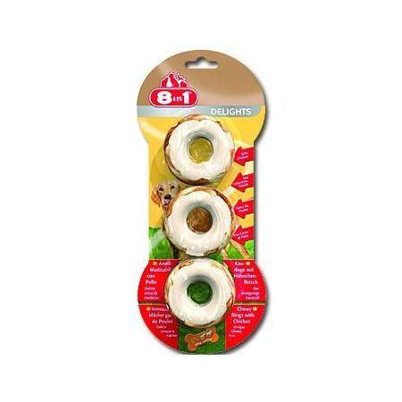 8in1 Delights žvýkací kroužky 141 g