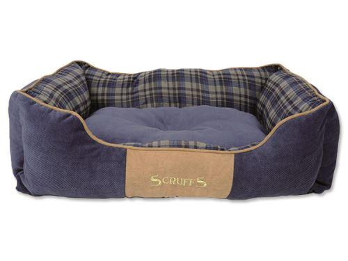Scruffs Highland Box Bed Pelíšek modrý - velikost L, 75x60 cm