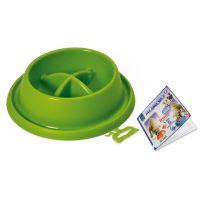 Plastová miska proti hltání s protiskluzem Argi - zelená - 21,5 x 20,5 x 5,5 cm