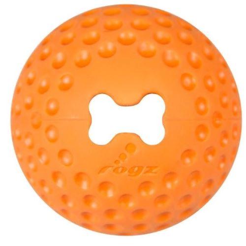 Rogz Gumz gumový míček pro psy plnicí oranžový
