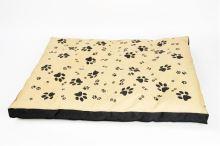 Matrace nylon Sucharda béžovo/cerná tlapka 90 x 60 x 12 cm