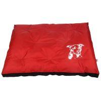 Matrace nylon Staford - cerveno/cerná 120 x 100 x 10 cm
