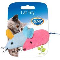 Hracka cat textil Myš mix barev Duvo+ 2 ks, 6 x 5 x 3 cm