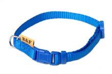 Obojek puppy nylon rozlišovací - modrýB&F 1,00 x 20-35 cm