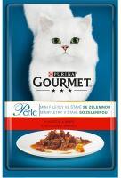 Gourmet Perle cat kaps.- hovezí a mrkev 85 g