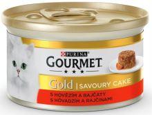 Gourmet Gold cat konz.-Savoury Cake hovezí,rajce 85 g