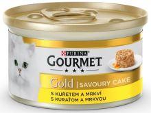 Gourmet Gold cat konz.-Savoury Cake kure,mrkev 85 g