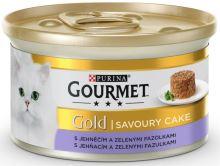 Gourmet Gold cat konz.-Savoury Cake jehne,fazolky 85 g