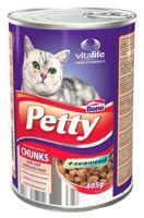 Petty cat konz. s telecím a jehnecím 405 g