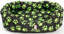 Pelech 8 hran bavl. Memory Tlapa cerno/zelený 45 cm