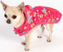 """Oblecek - Pláštenka """"Mia"""" malinová se srdícky 32 cm"""