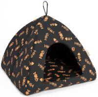 Iglú bavl. Bambi hnedo-oranžový kost ryba 45 x 45 x 38 cm